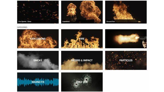 ActionVFX: Stock Image de  Explosões, Fogo, Fumo, Partículas e Mais action vfx
