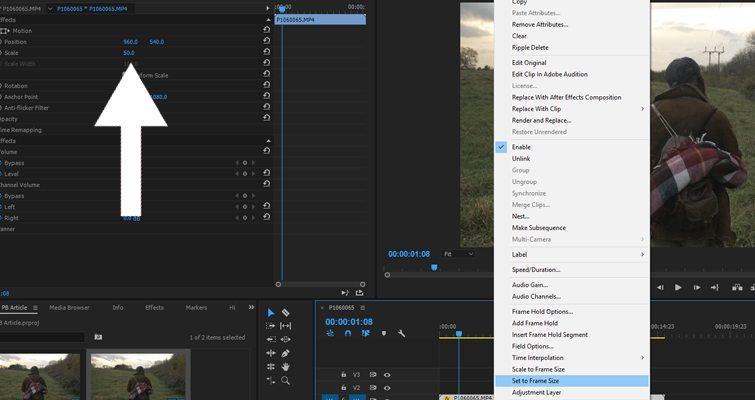 Image Resize no Adobe Premiere Pro  Image Resize no Adobe Premiere Pro | Tutorial Adobe Premiere | Dicas para Editores Premiere Pro Tip Import Size 2