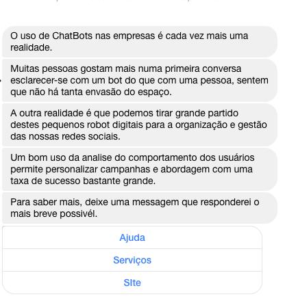 Chatbot messenger 1 pedro davim bot