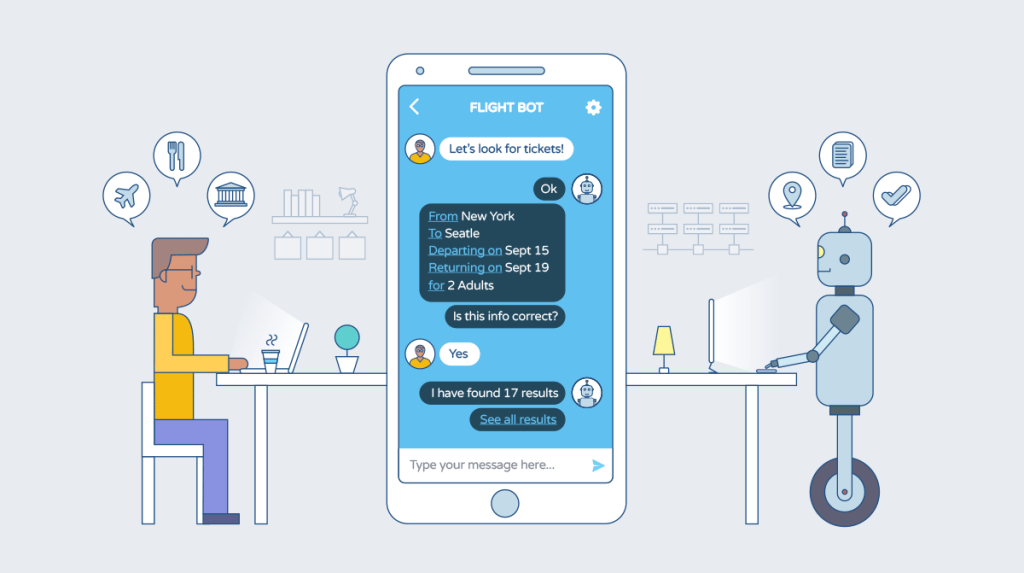 chatbots nas empresas e redes sociais  Chatbots nas empresas Como será o ano de 2018? image 1 59303162039e1