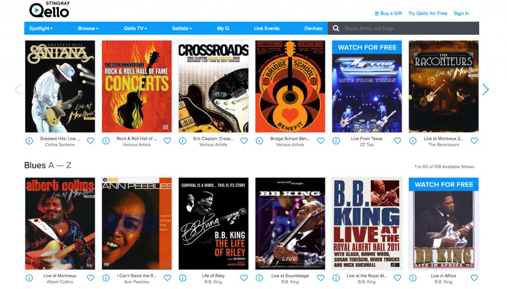 Plataforma qello 4 plataforma qello | plataforma de streaming de concertos e documentário música - Plataforma Qello | Plataforma de streaming de concertos e documentário música
