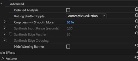 Como estabilizar imagens tremidas no Adobe Premiere ajustar parametros