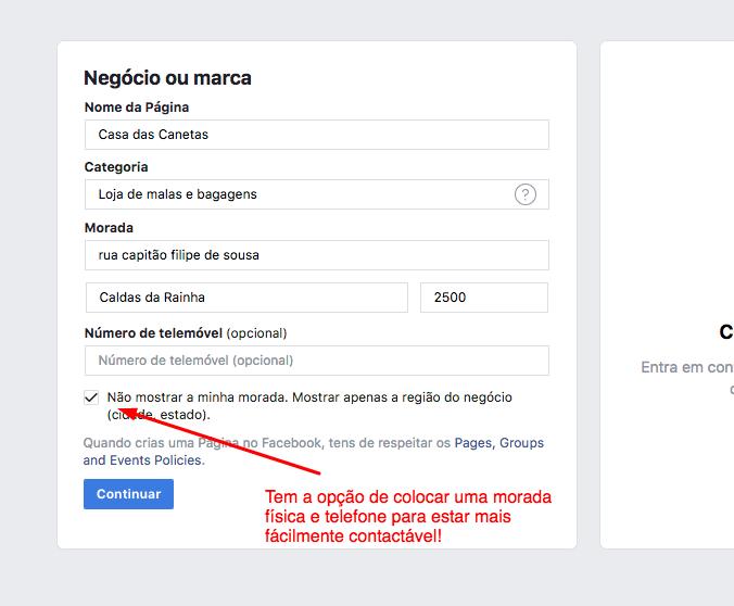 - 4 Como criar uma pa  gina no Facebook para a sua empresa - Como criar uma página no Facebook para a sua empresa