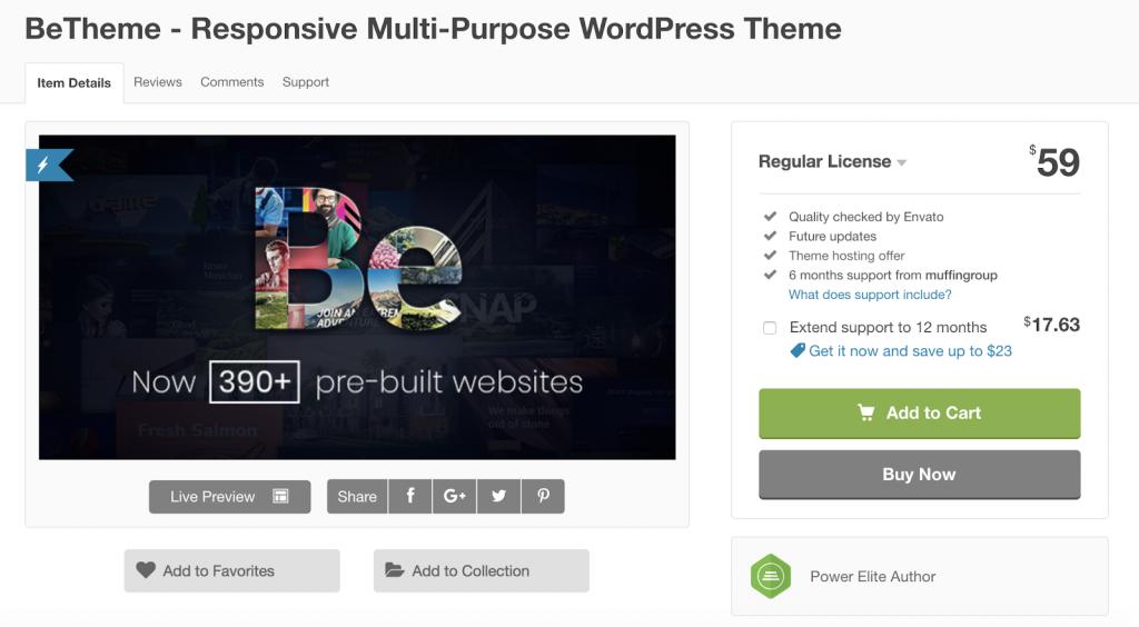 Os 7 Melhores temas responsivos de Wordpress para 2019 BeTheme 1024x564