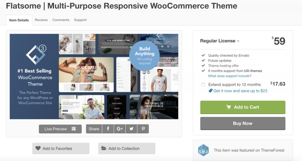 Os 7 Melhores temas responsivos de Wordpress para 2019 Flatsome 1024x548