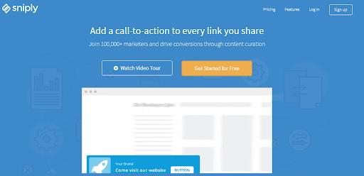 - sniply watch video - 6 melhores ferramentas para acelerar campanhas de marketing para conteúdo digital